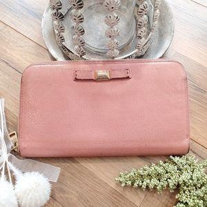 Miu Miu Zippy Pink Wallet